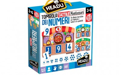 Headu tombola tattile dei numeri Montessori